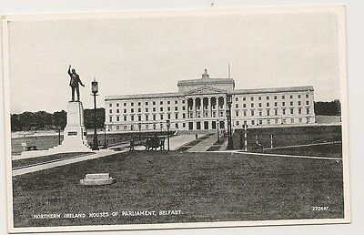 Old Postcard-NORTHERN IRELAND HOUSES OF PARLAMENT-BELFAST-by Valentine's.