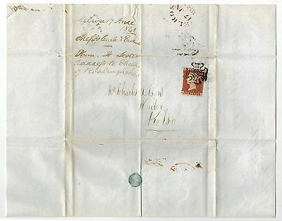 GB QV 1841 EARLY DATE 1d RED IMPERF ON ENTIRE MALTESE CROSS MELROSE TO KELSO