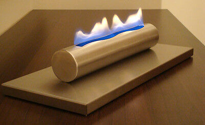 Table Gel and Ethanol Fireplace Stainless Steel Brushed Bio-Ethanol NEW