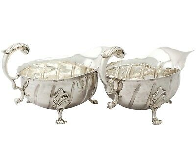 Victorian Sterling Silver Sauceboats 1880's