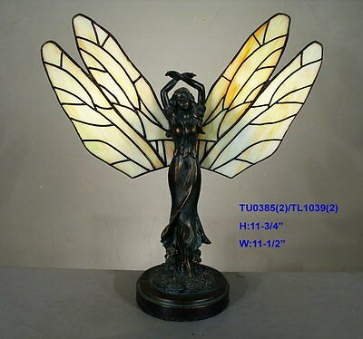*LIMITED* TIFFANY STAINED GLASS FAIRY LEADLIGHT LOUNGE TABLE LAMP Home Decor