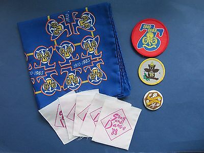 Collection of Vintage 1980s Guiding Celebration Items