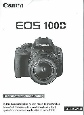 Official And Genuine Basic Nederlands Guide Canon Eos 100D - New
