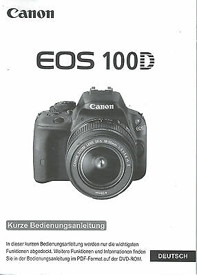 Official German Basic Genuine Guide Canon Eos 100D - New