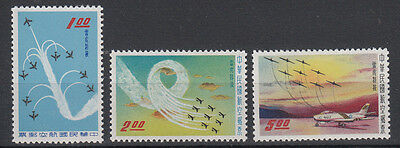 CHINA: TAIWAN 1960 AIRFORCE set of 3 perfect stamps.SG344/346. MUH/MNH