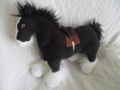 BRAVE - Angus the black horse plush soft toy VGC Disney Store