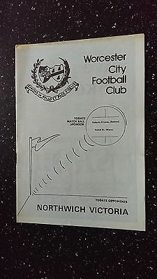 Worcester City V Northwich Victoria 1982-83.