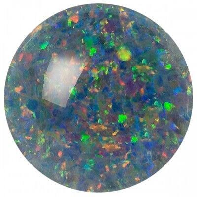 UNUSUAL 6mm ROUND CABOCHON-CUT AUSTRALIAN BLACK OPAL TRIPLET GEMSTONE £1 NR!