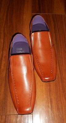 Mens Stylish New Formal Smart Slip On Gentleman Brown Shoes: Uk Size 11 (45)