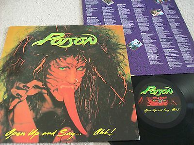 Poison - Open Up And Say Ahh! Vinyl Lp (1988) Rare Uncensored Sleeve