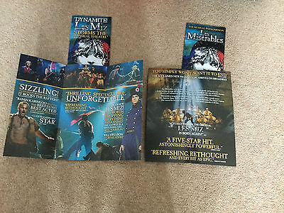 Ramin Karimloo 2 Different Broadway New York Les Miserables Fold Out Promos