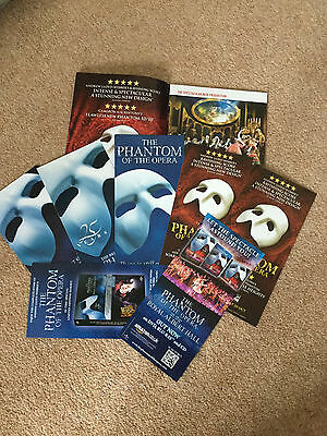 8 Different The Phantom Of The Opera Musical  Promo Items