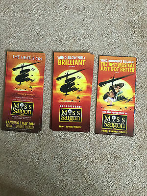 3 Different Miss Saigon Musical West End London Promo Items