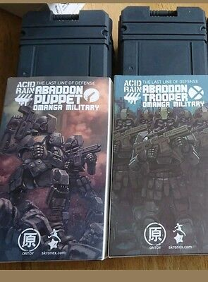 Acid rain oritoy omangan puppet trooper container exclusive lot of 3 1/18
