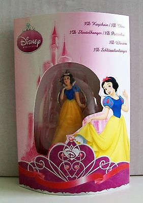 DISNEY PRINCESS SNOW WHITE 3D Keychain / Keyring 5.5cm Tall Key Ring