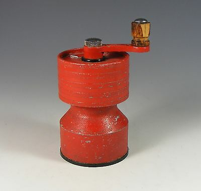 Vintage Salter Red Cast Iron Pepper Mill