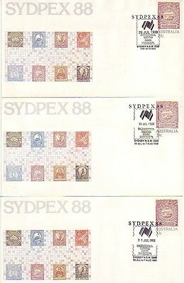 SYDPEX '88 Bicentennial National Stamp Exhibition (10no. Daily SC's) 1988