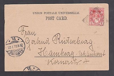 1902 Zanzibar P.P.Card to Germany / views / nice used card.
