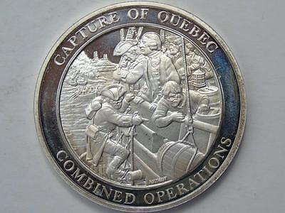 Large Silver Medal, Capture of Quebec Operation, by Nathan 37.82 grams, 44mm