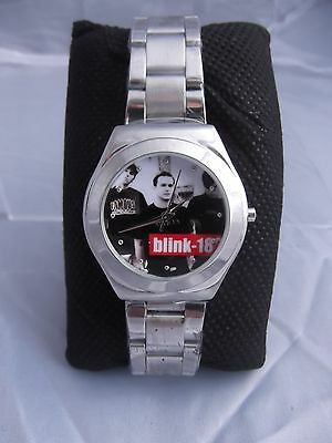 (134) RARE Vintage Blink 182 Wrist Watch # Never Worn # Rock Music Memorabilia