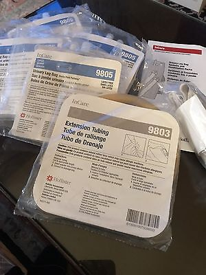 Lot of 4 Hollister 9805 Urinary Leg Bags Large Sterile 32 Oz w/ Straps & Tube