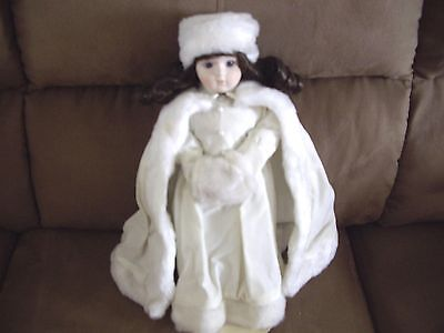 """15 """" Winter Doll With Stand"""
