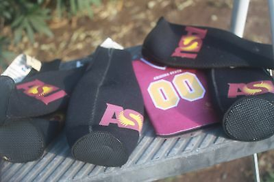 lot of 6 ASU Arizona State Sun Devil, can, bottle, coozie, insulates can bottle
