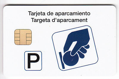 Piaf Parking Carte / Card .. Espagne Valencia 30€ Ora Dornier V° 8N°N Chip/puce