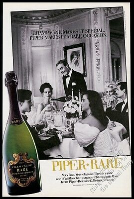 1986 Piper-Heidsieck Rare Champagne 1979 bottle photo BIG vintage print ad