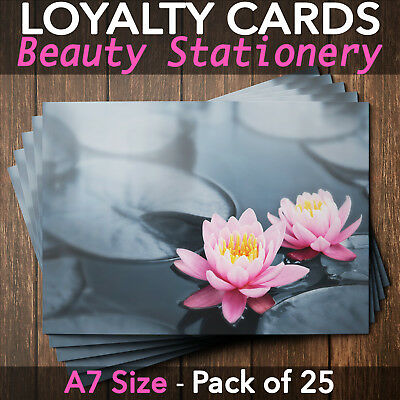 Customer Loyalty Cards Blank Coupon Repeat Business Salon Massage Pack of 25 WL