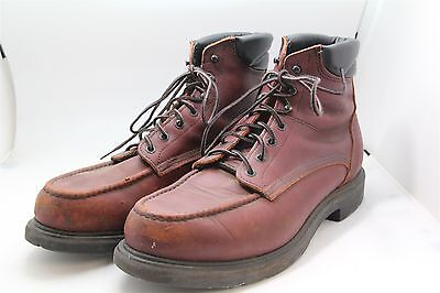 Redwing Men's Brown Leather Moc Toe Work Boots 2926 Sz 11