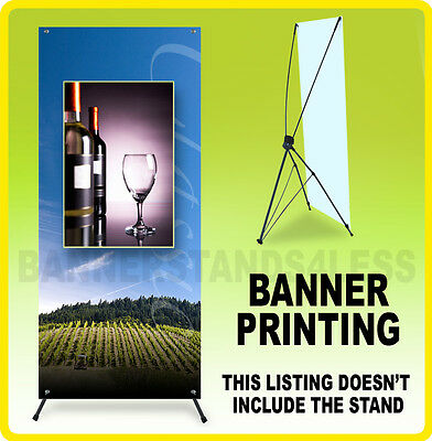 CUSTOM 24x63 Tripod X Banner Stand Banner Printing - Stand Not Included