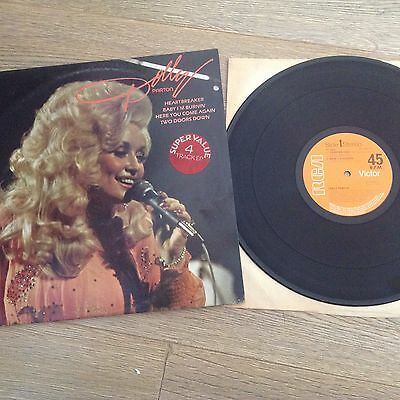 "Dolly Parton 1979 4 Track Ep 12 "" Vinyl 45 Rpm P/ Sleeve Record"