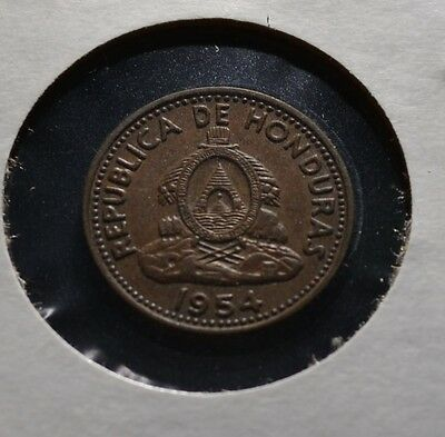 Honduras 1954 Centavo Great Condition Older Date Coin  -Hon1