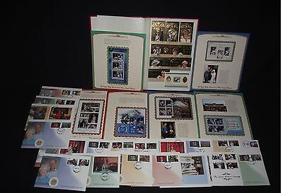 Royalty collection in stockbook unmounted mint + some covers etc (80+m/sheets)