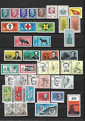 East-Germany/DDR/GDR: All stamps of 1963 in a year set complete, MNH