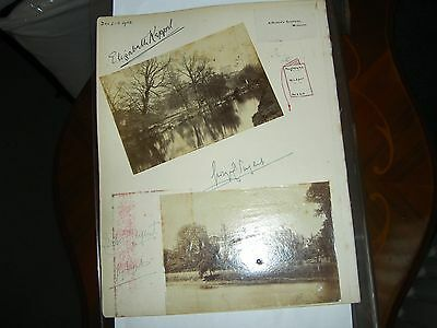 Two 1908 views Windsor & Eton with Signatures  KEPPAL Ramsden Hall NORFOLK