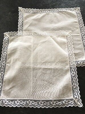 Lace Edged Handkerchiefs