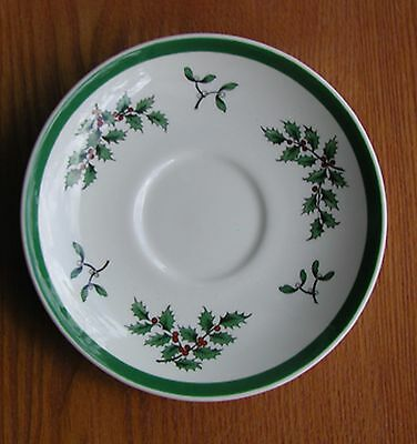 "Spode Christmas Tree England China 5 5/8"" Saucer Pristine (S)"