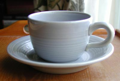 """Franciscan Reflections Blue China Usa  2 3/4"""" Cup & Saucer"""