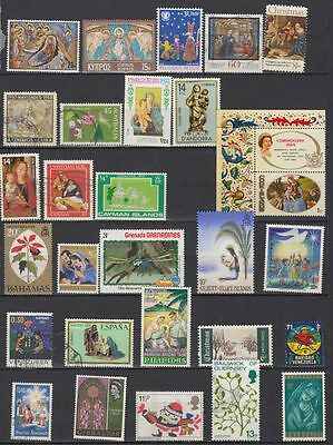 Xmas Stamps From Different Countries