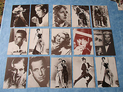 LOT 8 DIFFERENT CPSM cpa CP postcard CINEMA MOVIE actor actress ed DELTA v1980TB