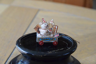 DOLLS HOUSE MINIATURE PULL ALONG CIRCUS TRUCK WITH CLOWN TEDDY 1/12th SCALE - GI
