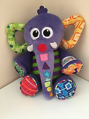 Lamaze Eddie Elephant Musical Trunk Baby Toy Crinkle And Music