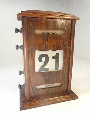 Antique Oak Desktop Perpetual Calendar  ref 2962