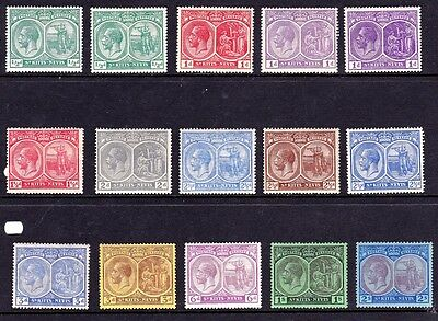 St Kitts & Nevis 1921 GV Defs to 2sh including shade varieties, M/Mint (15)
