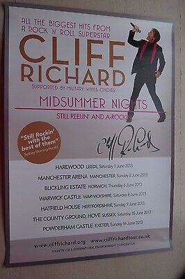 Cliff Richard Poster From Midsummer Nights Concerts - 2013