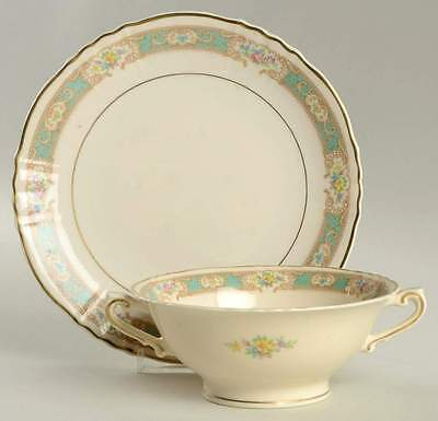 Syracuse RALEIGH-GREEN Cream Soup & Saucer 1263206