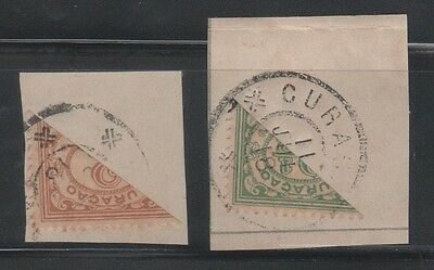 Curacao 1918- Bisect Stamps Scott Catalog #48-49 (Lot #46-63)