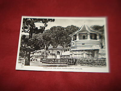 VINTAGE CEYLON SRI LANKA KANDY Temple of the holy tooth RP b&w